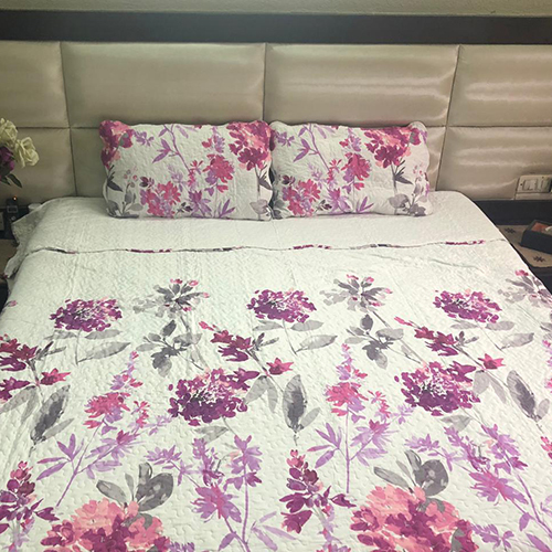 Ink Floral Printed Bed Covers