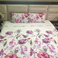Ink Floral Printed Bed Sheet