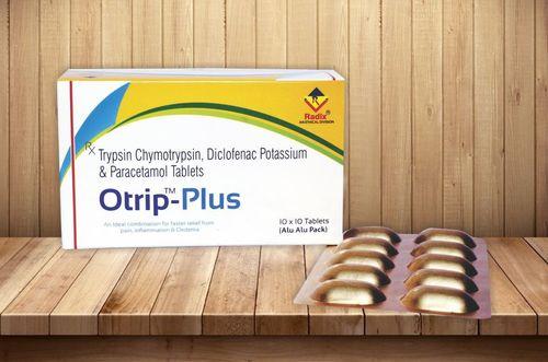 Diclofenac Potassium 50 Mg, Trypsin-Chymotrypsin 50,000 IU & Paracetamol 325 mg Tablets