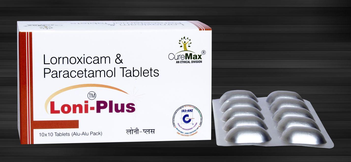 Lornoxicam 8 mg & Paracetamol 325 mg