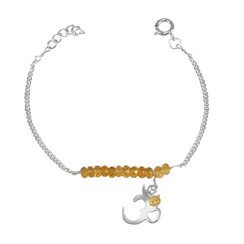 Handmade Jewelry Manufacturer November Birth Citrine 925 Silver With