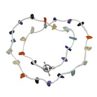 Amethyst, Garnet, Citrine, Handmade Jewelry Manufacturer Carnelian, Lapis Lazuli 925 Sterling Silver Jaipur Rajasthan India Necklace