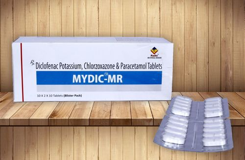 Diclofenac Potassium 50 mg,Chlorzoxazone 250 mg & Paracetamol 325 mg Tablet