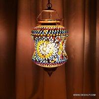 Multi Mosaic Wall Hanging Lamp