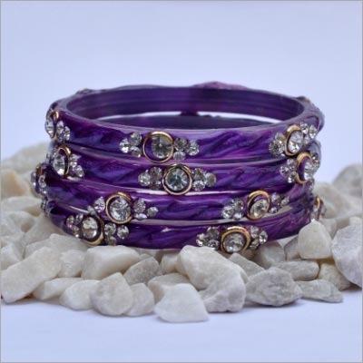Purple Stone Bangle