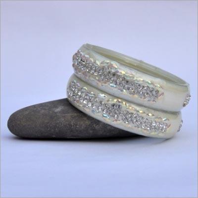 Silver Stone Bangle