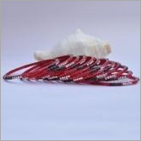 Red Ladies Glass Bangle