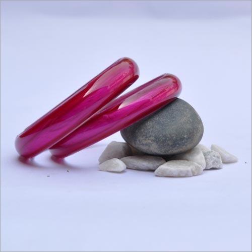 Pink Glass Bangle