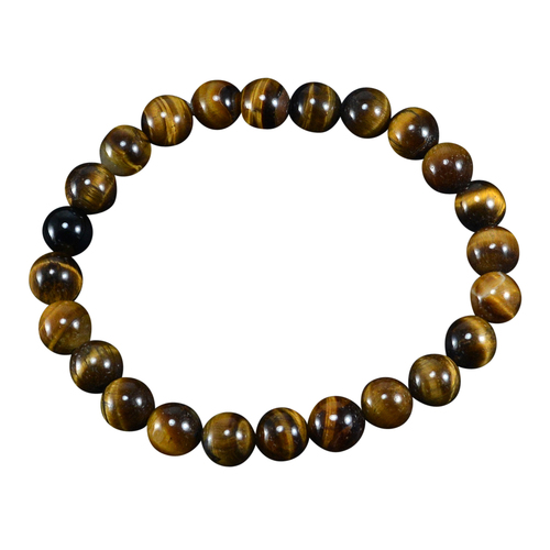 8mm Round Jaipur Rajasthan India Beaded Tiger Eye Stretchable Negative Energy Protection Handmade Jewelry Manufacturer Bracelet