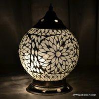 Black & White Mosaic Table Lamp