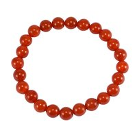 Reiki-Healing, Handmade Jewelry Manufacturer 8mm Beaded Orange Carnelian, Stretchable Jaipur Rajasthan India Layering Bracelet