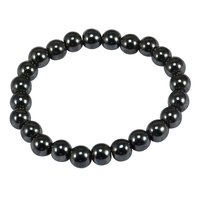 Beaded Hematite Stretchable Bracelet, Healing, Inner Wealth, Protection, Spiritual, Divine Love Jaipur Rajasthan India