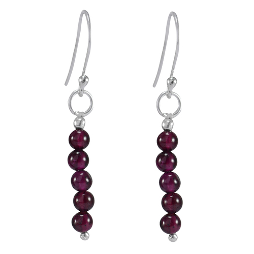 Handmade Jewelry Manufacturer Beaded Garnet /& Pearl 925 Sterling Silver Long Dangle Earring Jaipur Rajasthan India