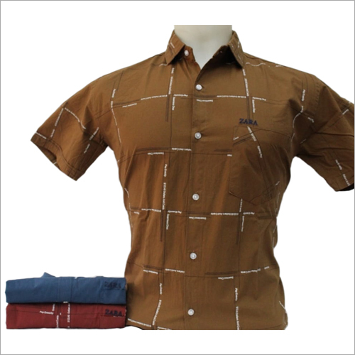 Mens Half Sleeve Check Shirt