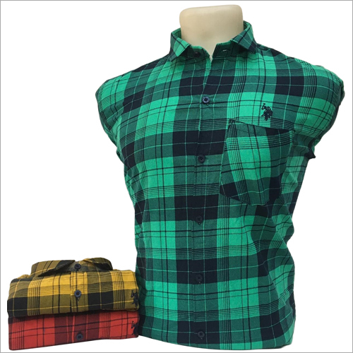 Mens Green Check Shirt