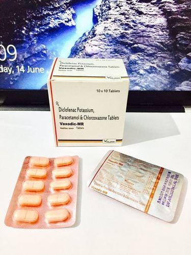 Diclofenac Potassium  paracetamol  Chlorzoxazone tablets