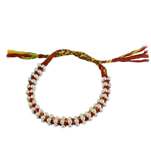 Handmade Jewelry Manufacturer 925 Sterling Silver Round Ball Tassel Bracelet Jaipur Rajasthan India