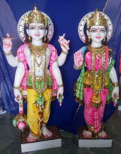 Marble Vishnu Laxmi Narayan Murti