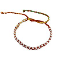 Stunning- Silver-tone Handmade Jewelry Manufacturer Round Ball 925 Sterling Silver Tassel Bracelet Jaipur Rajasthan India