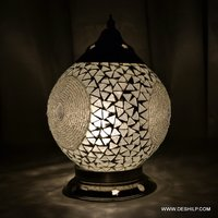 Antique-Style Glass Mosaic Table Lamp