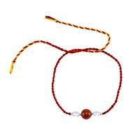 Jaipur Rajasthan India Round Beads Carnelian & Crystal Quartz, Handmade Manufacturer 925 Sterling Silver, Tassel Bracelet