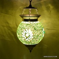 Green Color Effect Mosaic Wall Hanging