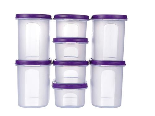 Clear Transparent Plastic Kitchen Storage Container Set At Price Range 450 00 500 00 Inr Set In Navi Mumbai Id C5433107