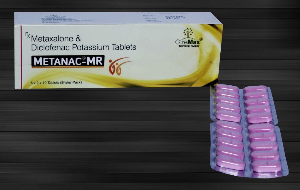 Diclofenac Potassium 50 mg & Metaxalone 400 mg Tablets