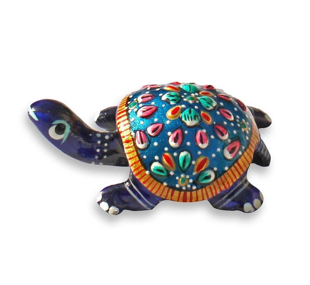 Blue Tortoise Statue