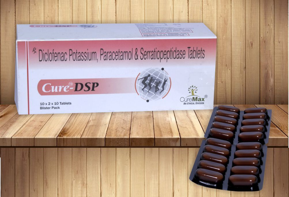 Diclofenac Potassium 50 mg, Paracetamol 325 mg & Serratiopeptidase 10 mg Tablets