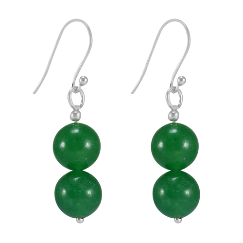 Solid 925 Sterling Silver, Jaipur Rajasthan India Green Onyx, Wedding Dangle Earring Handmade Jewelry Manufacturer