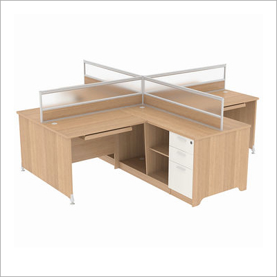 Library 4 Persons Modular Workstation Desk