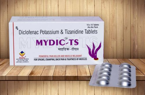 Diclofenac Potassium 50 Mg &Tizanidine 2 mg Tablets