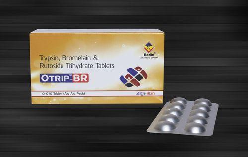Trypsin 48 mg, Bromelain 90 mg & Rutoside Trihydrate 100 mg