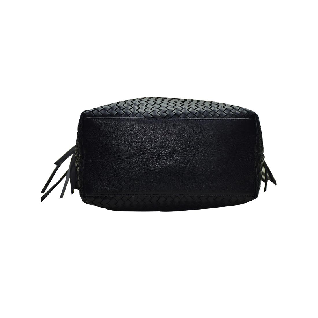 Leather Handwoven Tote Shoulder Bag
