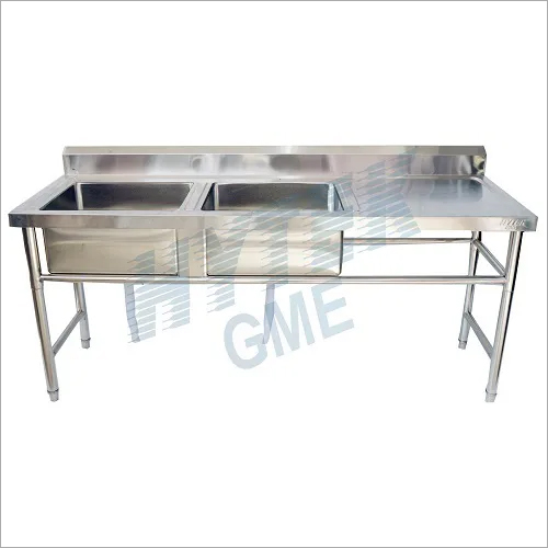Double Sink With Side Table