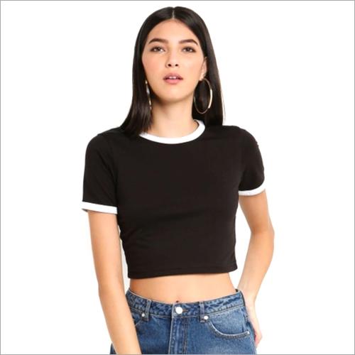 Ladies Short Sleeve Crop Top