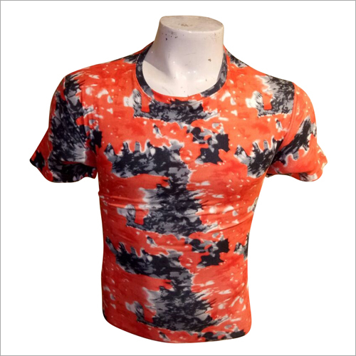 Mens Cotton Tie Dye Print T Shirt