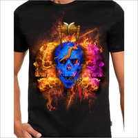 Mens Cotton Printed T Shirt