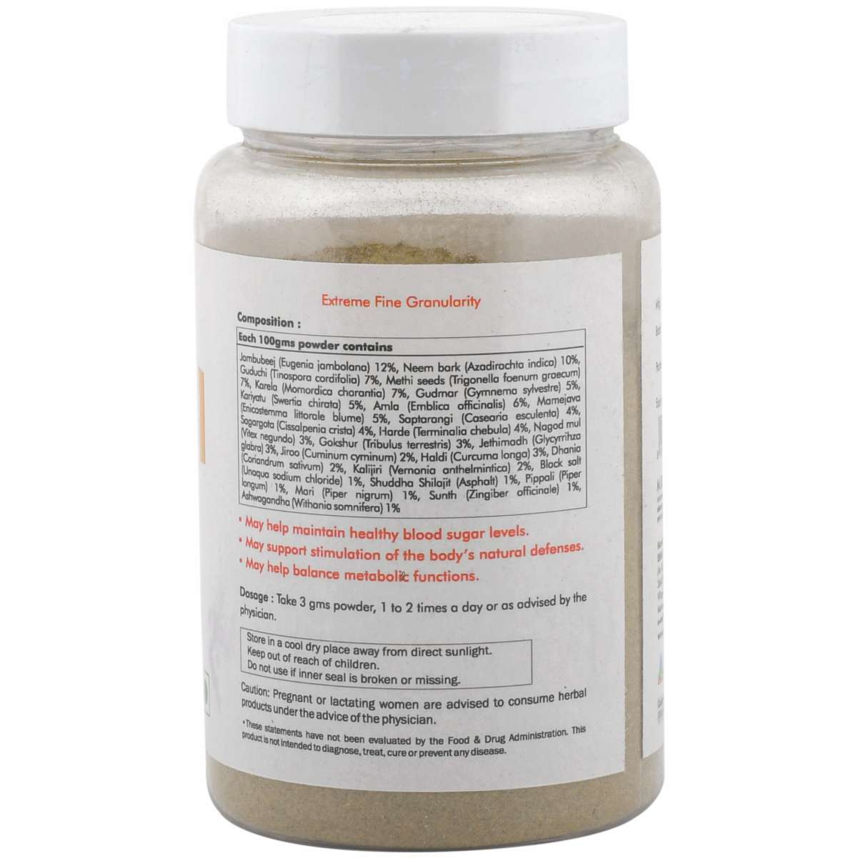 Ayurvedic Diabetes Powder - Dia care Churna