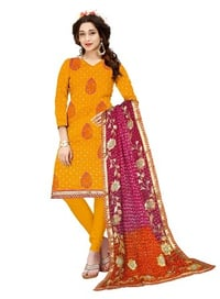 Ladies Cotton Embroidery Dress Material