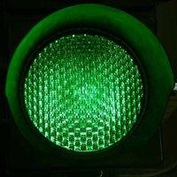 Green LED Traffic Signal Light