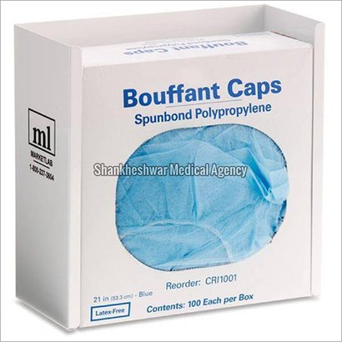 Blue Non Woven Disposable Bouffant Cap