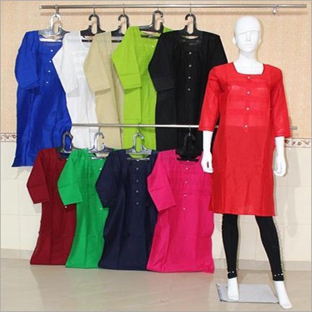 Women Plain Cotton Kurti