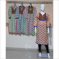 Women Embroidered Cotton Kurti