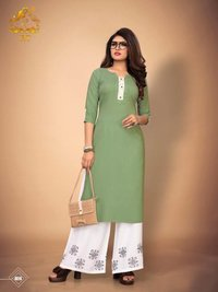 Rayon Kurti with Plazzo