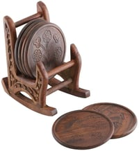 Wooden Set of 6 Coasters