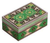 Wooden Vintage Look Green & Black Jewelry Box