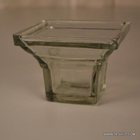 Clear Glass T Light Holder
