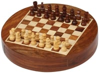 Wooden Round Chess Board